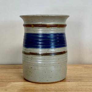 Handmade Pottery Utensil Holder in Old Republic Glaze