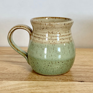 Handmade Pottery Mug Farmhouse Style Honey and Seagrass