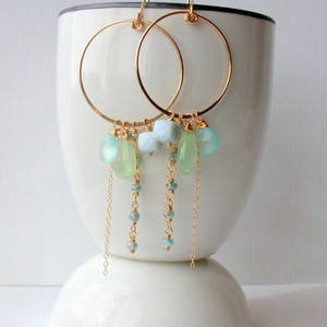 Large Gypsy Turquoise Earrings