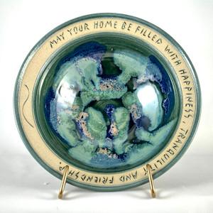 Handmade House Warming Bowl Caribbean Glaze