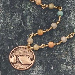 "Tree of Life Necklace Handmade 16"""