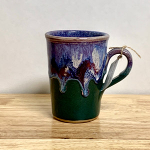 Handmade Coffee Mug  Lavender and Green