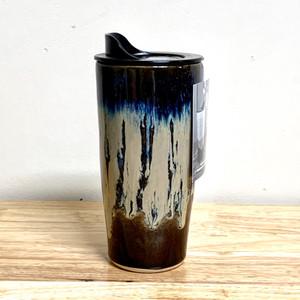 Handmade Ceramic Travel Mug, Northern Lights Glaze, 20 oz.