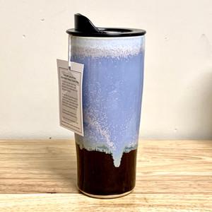 Handmade Ceramic Travel Mug, Serenity Light Blue Glaze, 20 oz.