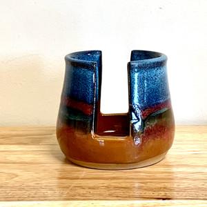 Handmade Pottery Sponge Holder in Desert Blue