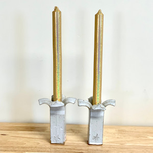 """100% Beeswax Solid Taper Candles Gold 10"""""""