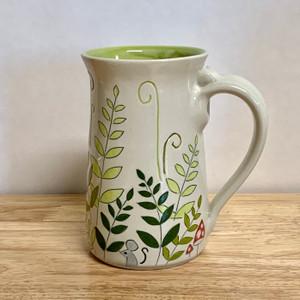 """Handmade Pottery Mug Fox Collection 3"""" Tall 16 oz"""