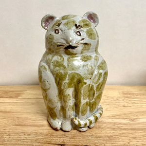 Handmade Pottery Animal Bank Cat