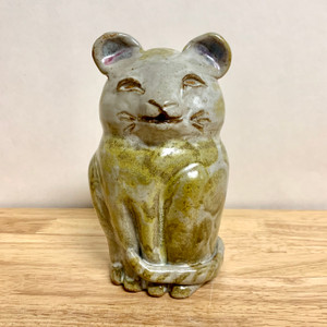 Handmade Pottery Animal Cat Bank