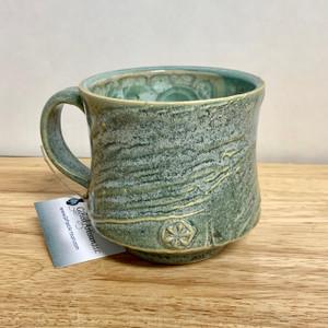 Handmade Crystalline Mug.  Sage Crystalline