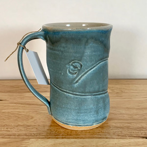 Handmade Pottery Tall Mug - Sky Blue