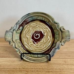 Handmade Pottery Small Baker / Brie Baker w Handles