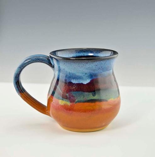 Handmade Pottery Desert Blue Mug 10 oz