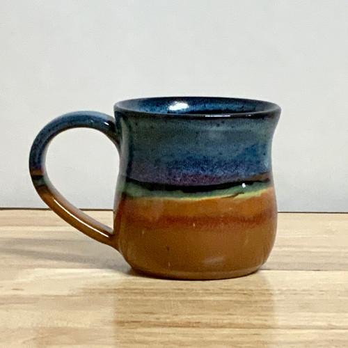 Handmade Pottery Large Desert Blue Mugs 12 - 14 oz