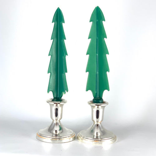 100% Beeswax Handmade Festive Tree Green