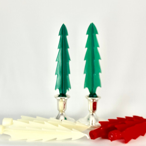 100% Beeswax Handmade Festive Tree Ivory