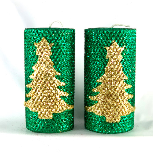 100% Beeswax Honeycomb Hand Rolled Special Edition Christmas Candles
