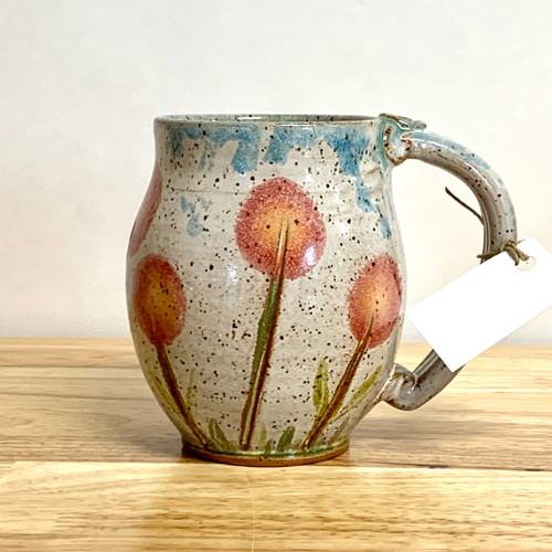 Handmade Pottery Mug Watercolor