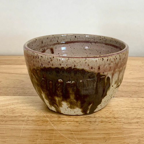 Handmade Pottery Borealis Bowl in Dusk