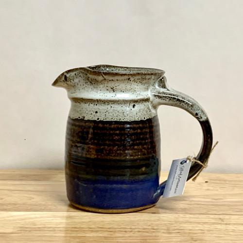 Handmade Pottery Pitcher 24 oz in Storm Glaze
