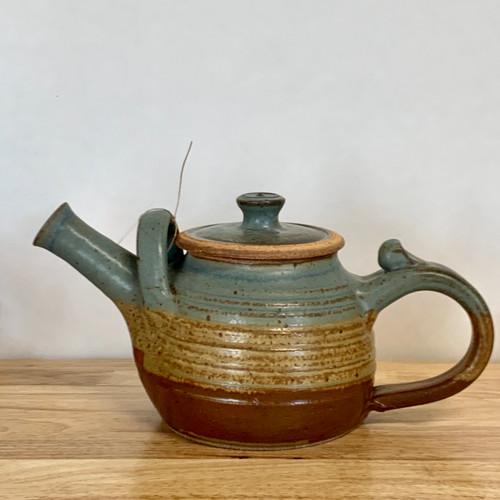 Handmade Pottery Teapot in Oasis Glaze - 32 oz