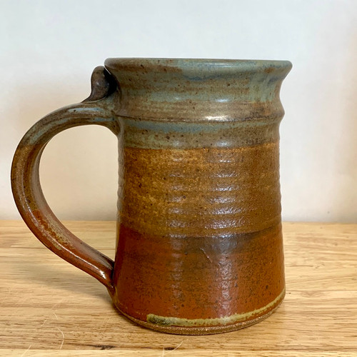 Handmade Pottery Tankard Mug - Oasis Glaze 20 oz