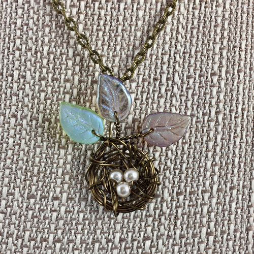 Flowering Nest Necklace - 17 in.
