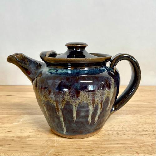 Handcrafted Stoneware Teapot Blue Glaze - 32oz