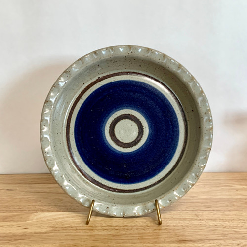 Handmade Pottery Fluted Pie Plate in Old Republic