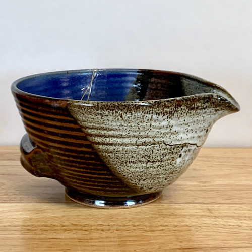 Handmade Pottery Mixing Bowl with Easy Pour