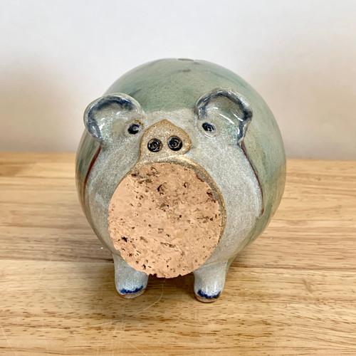 Handmade Pottery Animal Pig Bank
