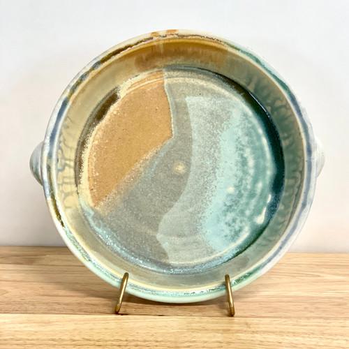 "Pie Plate Handmade Pottery  9.5"" Diameter"