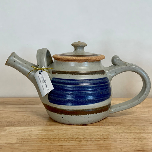 Handmade Pottery Teapot in Old Republic - 32 oz