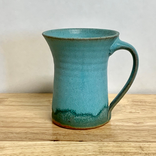 Handmade Tall Mug Turquoise