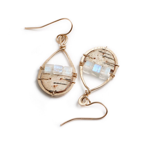 Tessoro Etruscan Collection Natural Birch Earrings