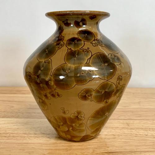 "Crystalline Vase 7.0"" In.  Mocha"
