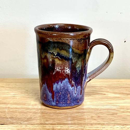 Handmade Coffee Mug  Lavender and Brown