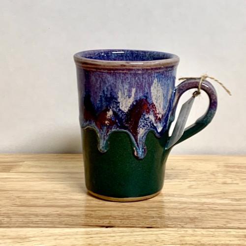 Handmade Coffee Mug  Lavender and Green