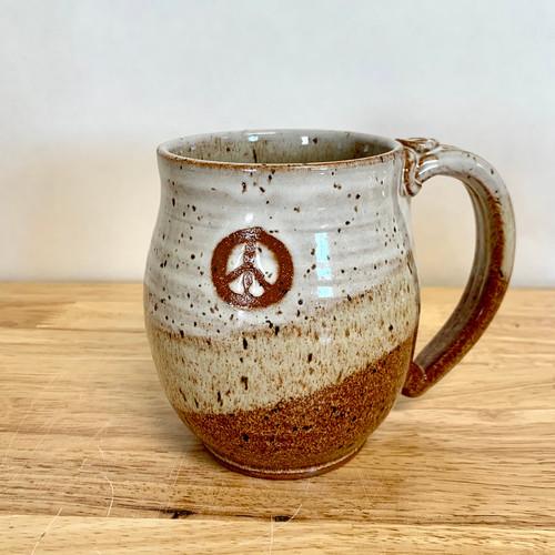 """Pottery Mug with a Saying -  """"Peace"""" Mug Mug14  oz"""