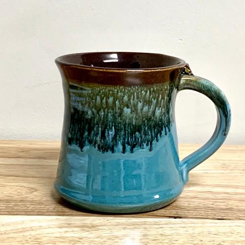 Ocean Tide 16 oz. Mug Blue/Green/Brown Glaze