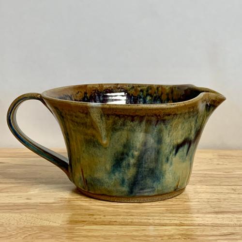 "Stoneware Batter Bowl  9"" in.  Misty River Glaze"