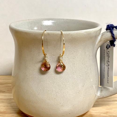 Curving Blush Earrings