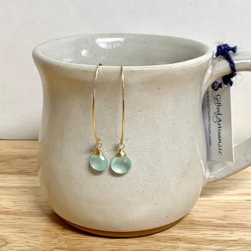 Chalcedony Curving Earrings