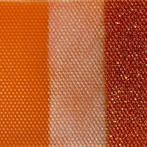 Beeswax Honeycomb Taper Candle  -  Orange