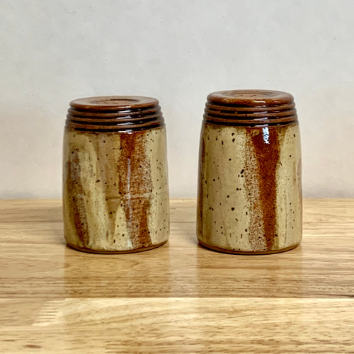 Salt & Pepper Shakers in Jasper Glaze
