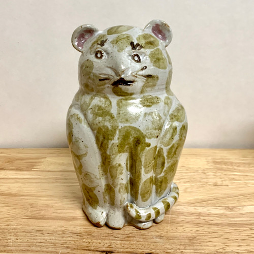 Handmade Pottery Animal Bank Cat