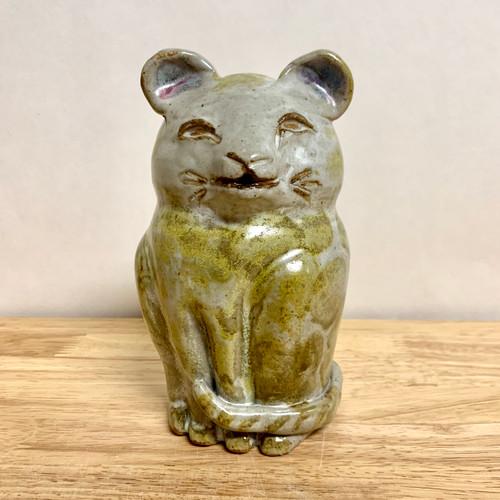 Handmade Pottery Animal Cat Bank