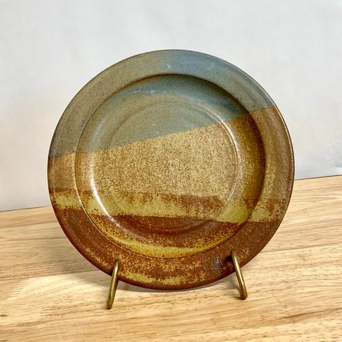Handmade Pottery Salad/Sandwich Plate in Oasis Glaze