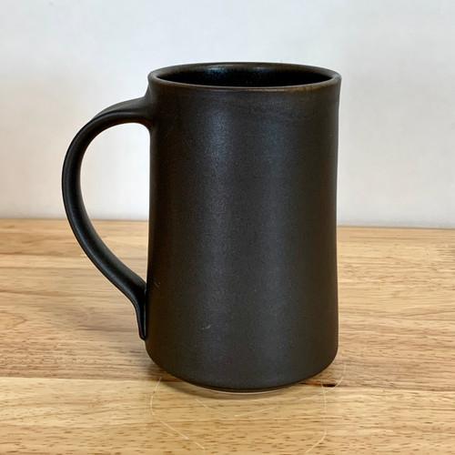 Handmade Pottery Black Steel Tall Mug
