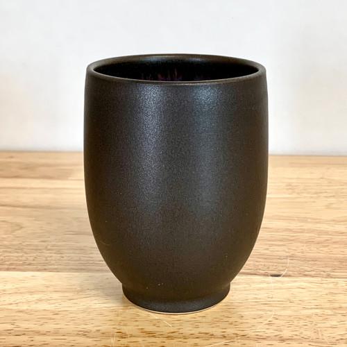 Handmade Day Drinker Wine Cup in Black Steel